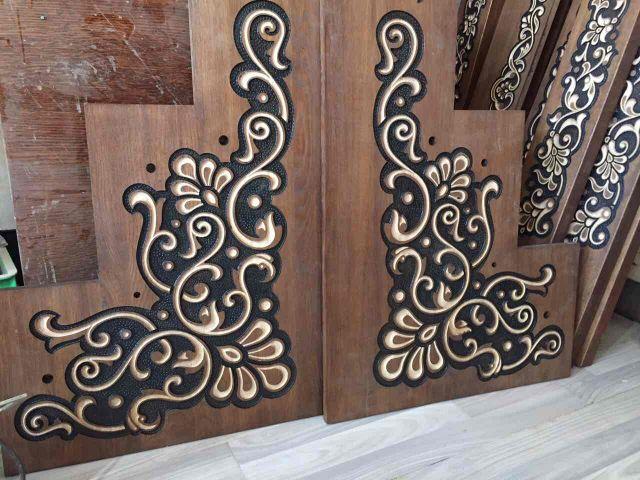 Фасадный декор из дерева